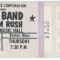 1976 Tom Rush Opens for The Band - Ticket Stub