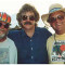August 1998 - Tom with the original Ben & Jerry sponsors of the Newport Folk Festival