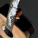"Detail of the new Tom Rush ""Naked Lady"" guitar made by MacKenzie & Mar. 
