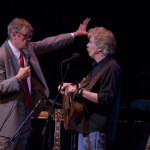 Tom Rush onstage with Garrison Keillor at A Prairie Home Companion, held in the Town Hall in New York - April 18, 2009 | © Bill Campbell, All rights reserved.